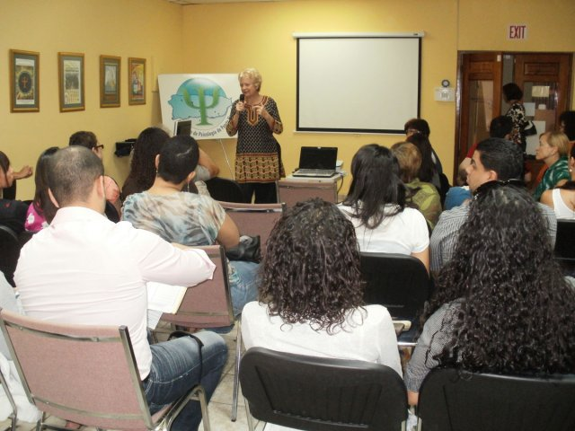 Director Martha Davis at Puerto Rico Psychological Association screening