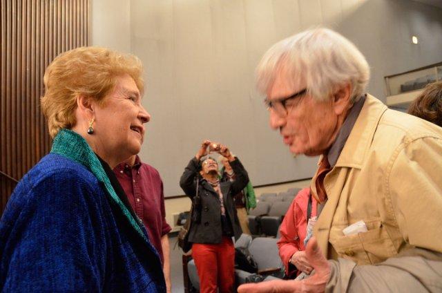 Director Martha Davis and Dr. Robert Jay Lifton