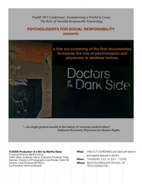 Boston Graduate School of Psychoanalysis flier