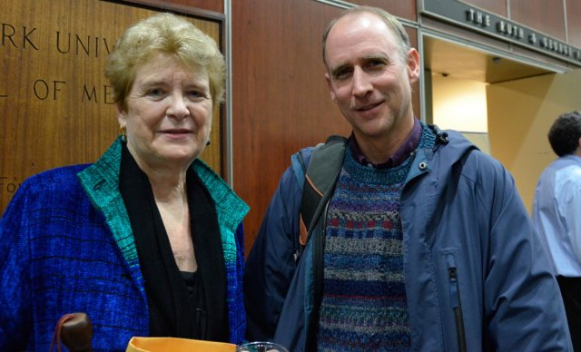 Director Martha Davis with John Humphries of  the National Religious Campaign Against Torture