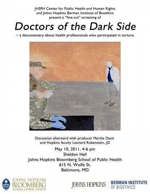 Johns Hopkins Medical Center flier