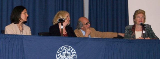 Kean University panel: L to R:   Dr. Jennifer Lerner,  Dr. Virginia Fitzsimons,  Dr. Dennis Klein,  and  Dir. Martha Davis